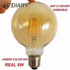 le led filament lediary 10pcs nxp dimmable g95 led filament bulb e27 retro edison l real 8w 220v 2700k