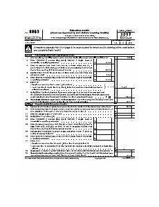 2017 form 8863 pdf education credits american opportunity and lifetime learning credits f