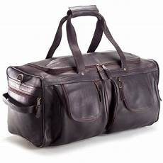 xl leather duffel with shoe pocket