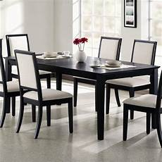 Black Dining Room Table by Coaster Lexton 101561 Rectangular Dining Table With 18