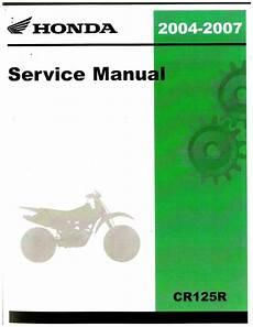 service repair manual free download 2004 honda cr v security system 2004 2007 honda cr125r motorcycle service manual