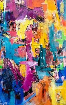 moderne bilder auf leinwand gem 228 lde f 252 r den wohnbereich mit kr 228 ftigen farben acryl