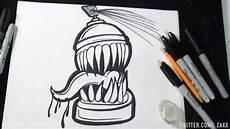 Speed Drawing Lata De Spray Graffiti Zaxx