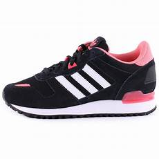 adidas zx 700 womens suede textile trainers in black white