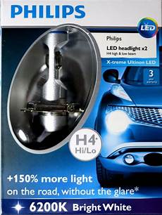 Philips Led H4 Xtreme Pair Car Bulbs 150 6200k White