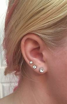 lobe piercing ear lobe piercings ear piercings