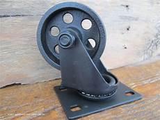 Industriel Chariot Roulettes Roues En Acier M 233 Tal Vintage