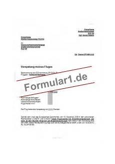 flugverspätung entschädigung musterbrief entsch 228 digungsverlangen wegen flugversp 228 tung vorlagen