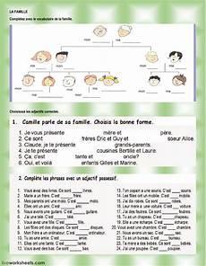 worksheets la famille 18941 la famille interactive worksheet