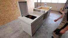 sichtbeton selber herstellen outdoor k 252 che in betonoptik www schreinerei aumueller