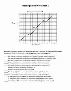 chemistry heating curve worksheet answers 1st quarter robert e lee chemistry