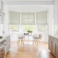 Kitchen Bay Window Nook Ideas by Butcher Block Top Island With Baskets Transitional Kitchen
