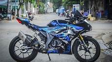 Modifikasi Gsx R150 by Modifikasi Gaya Racing Look Suzuki Gsx R150 Jadi Mirip