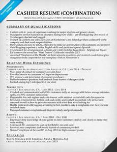 resume qualifications for cashier cashier resume sle resume companion
