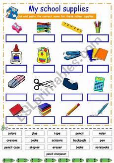 worksheets school supplies 18456 school supplies esl worksheet by karen1980