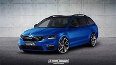 2017 Skoda Octavia Rs Facelift Rendering Is To The