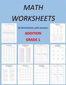 math worksheets for grade 1 56 worksheets pdf year 12 etsy