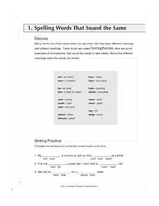 trivia worksheets 15583 spelling words that sound the same skills practice writing spelling words writing