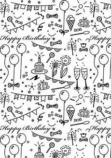 Gratis Malvorlagen Happy Birthday Free Printable Birthday Coloring Paper Ausdruckbares