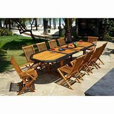 salon de jardin teck et r 233 sine ensemble grande table ovale