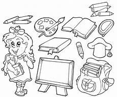 ausmalbild schule kostenlose malvorlage rund um die