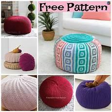 6 Beautiful Knitting Pouf Free Patterns Diy 4