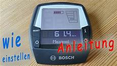 einstellung bosch intuvia display erkl 228 rt e bike