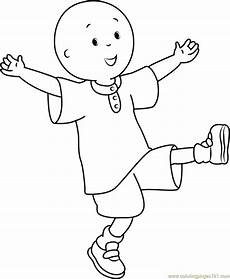 caillou coloring page free caillou coloring