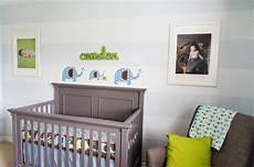 Kinderzimmer Blau Grau - green blue gray elephant themed nursery project nursery