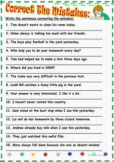 spelling error correction worksheets 22343 86 free esl mistakes worksheets