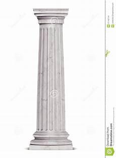 Colonne Grecque Simple D Isolement Sur Le Blanc