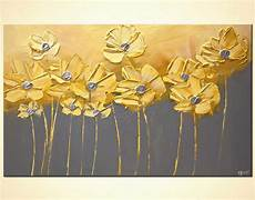 paintings for home decor painting for sale yellow gray flowers gray background