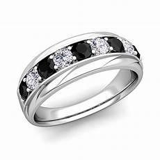 his and hers wedding band 14k gold black diamond wedding rings