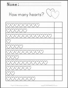 counting worksheets for preschoolers pdf how many hearts counting worksheet student handouts