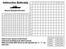 basic math fact battleship addition subtraction multiplication