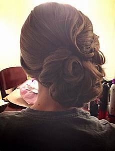vintage updo curls wedding hair finger waves bridal hairstyle by a hair affair