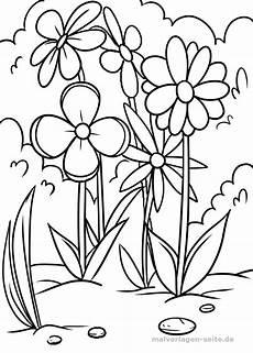 malvorlagen blumen malvorlage blumenwiese pflanzen