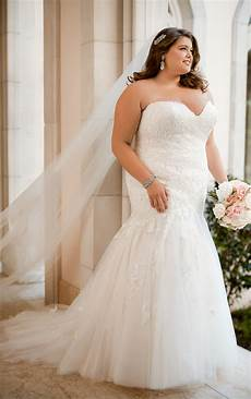 lace wedding dresses form fitting plus size lace wedding dress stella york