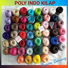 Benang Rajut Poly Indo Kilap crown toko benang yarns supplier