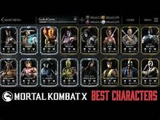 mortal kombat mobile mkx mobile top 10 best characters mortal kombat x