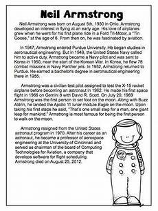 neil armstrong freebie biography article reading comprehension worksheet teaching ideas