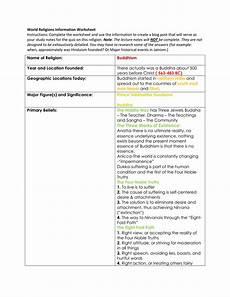 buddhism worksheet