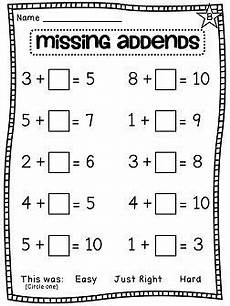 addition worksheets with missing addends 9643 grade math unit 7 grade math 1st grade math homeschool math
