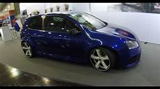 Volkswagen Golf V Blue Colour Tuning Show Car