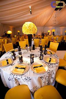 282 best black yellow weddings reception images on pinterest