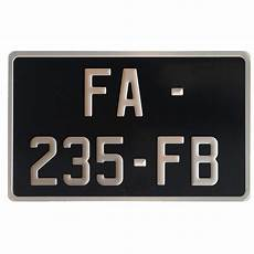 plaque moto 210x130 siv plaque moto noir alu 210x130