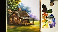 painting the basic house in acrylics lesson 1 pinceladas y pinturas en 2019 videos de