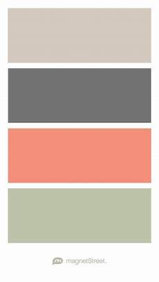 sugar charcoal coral and wedding color palette custom color palette created at