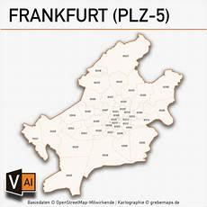 frankfurt postleitzahlen karte plz 5 vektor grebemaps