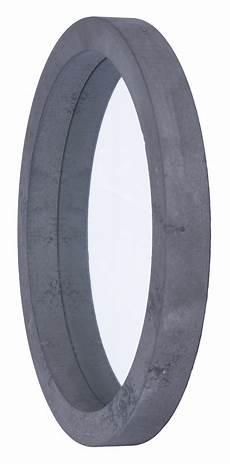 deko spiegel rund spiegel 3er set rund holz grau gewischt betonoptik